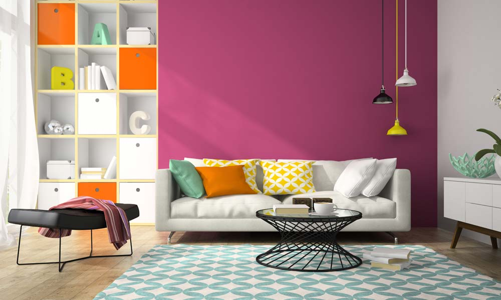 2. Einrichtungstipp fürs Wohnzimmer: mit der Farbe Violett lassen Sie Ihren Geist entspannen