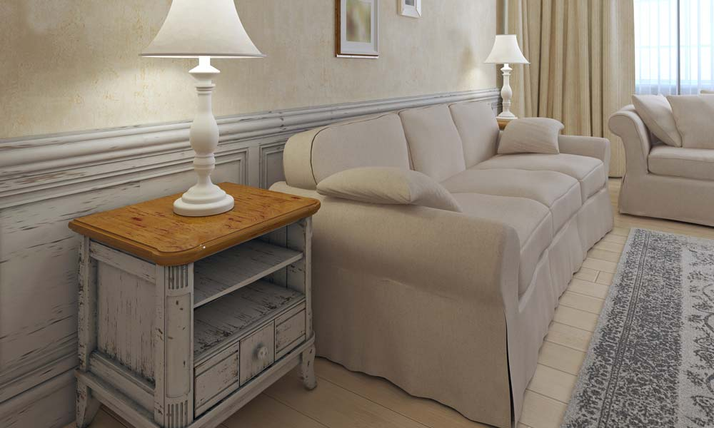 5. Einrichtungstipp fürs Wohnzimmer: Style-Mix: Shabby-Look mit luxuriösem Landhausstil