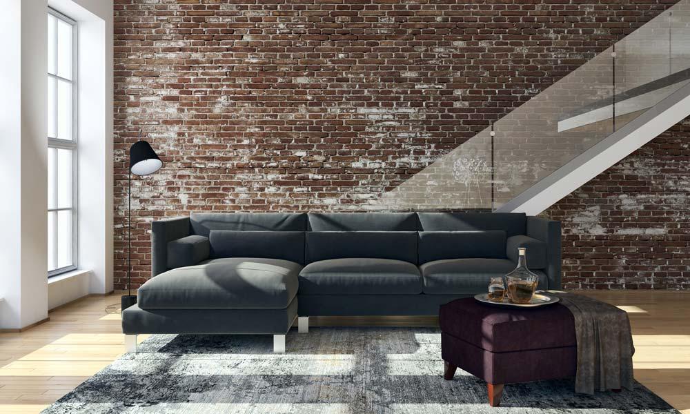 7. Einrichtungstipp fürs Wohnzimmer: ein Wohnzimmer im Industrial-Look in der Maisonette