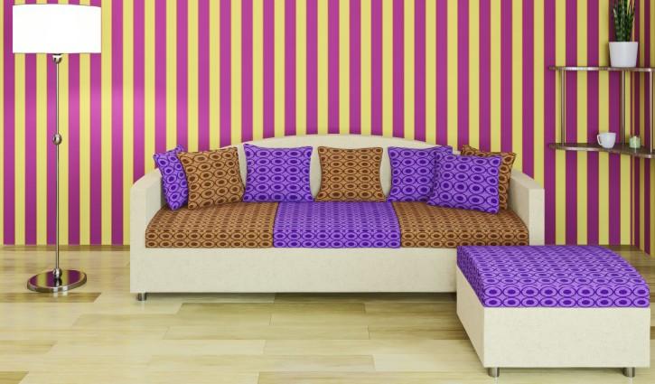 9. Tipp: Schwimmende Streifen an der Wand für ein junges Wohnzimmer