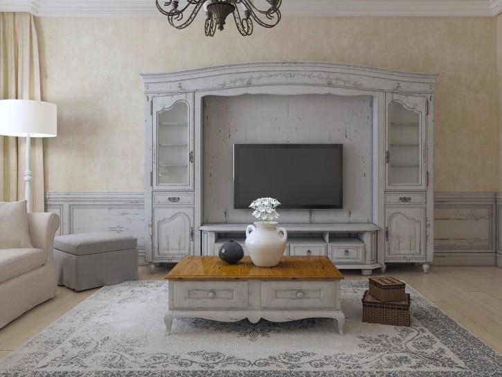 3. Einrichtungstipp: Barocke Luxus-Wohnwand mit Fernseher