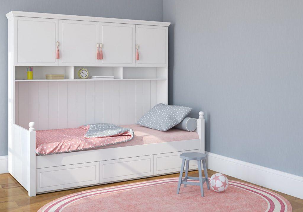 1. Idee fürs Kinderzimmer: Mädchentraum in Weiß, Grau und Rosa