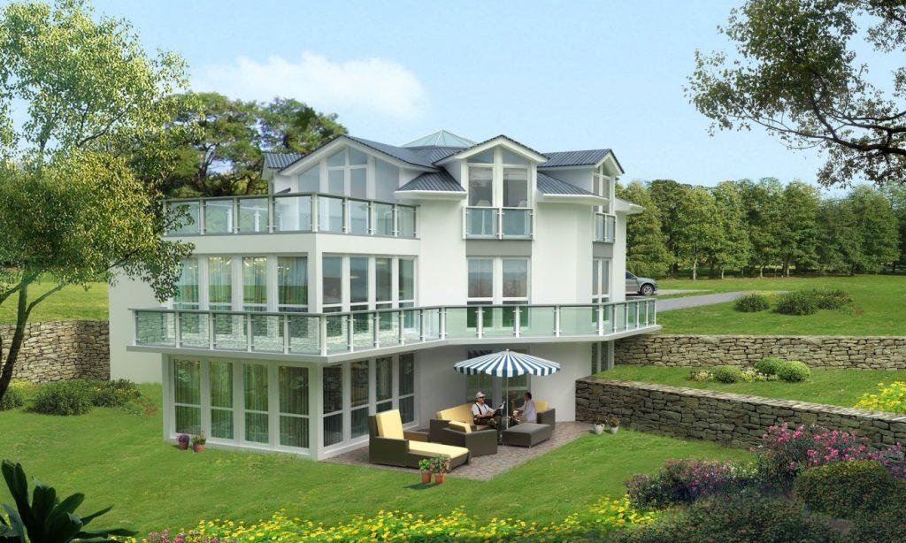 01. Villa: ein Traum von Einfamilienhaus aus Glas