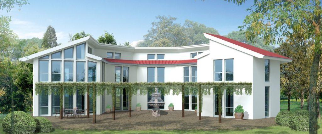 3. Traumhaus: Einfamilienhaus mit Lichthof und bodentiefen Fenstern