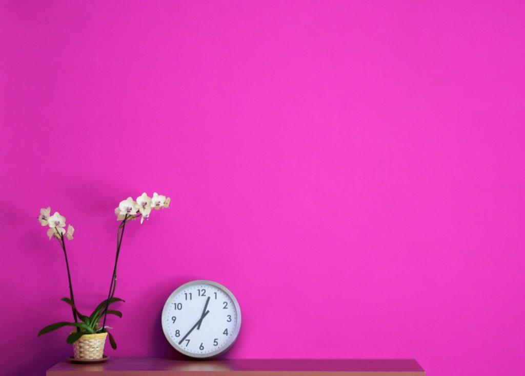 6. Idee für Farbe und Muster: Pink – und nichts weiter
