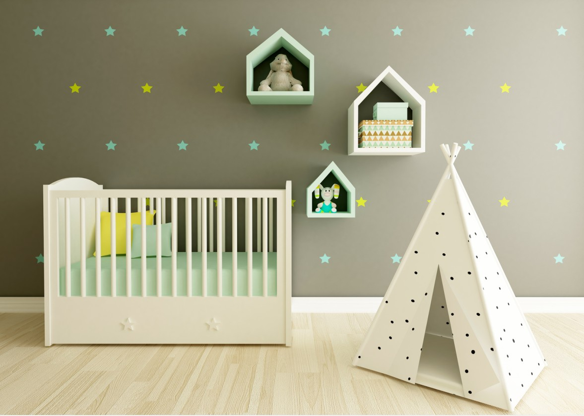 babyzimmer gestalten 50 deko ideen f r jungen m dchen. Black Bedroom Furniture Sets. Home Design Ideas
