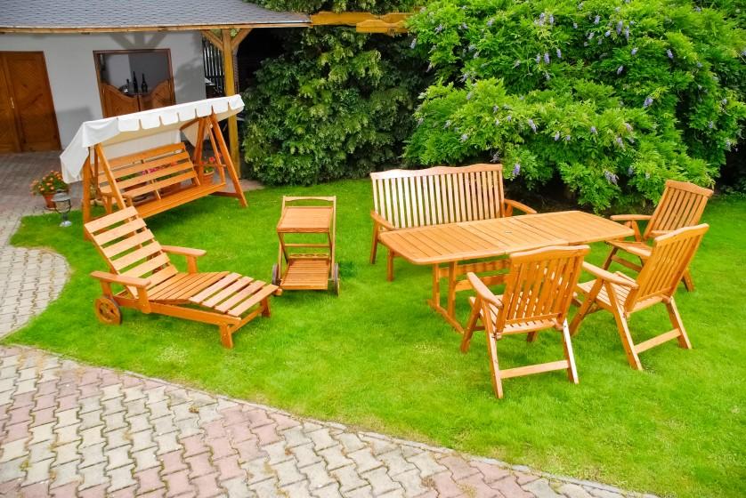 Teakm bel f r terrasse und garten for Muebles de rafia para jardin
