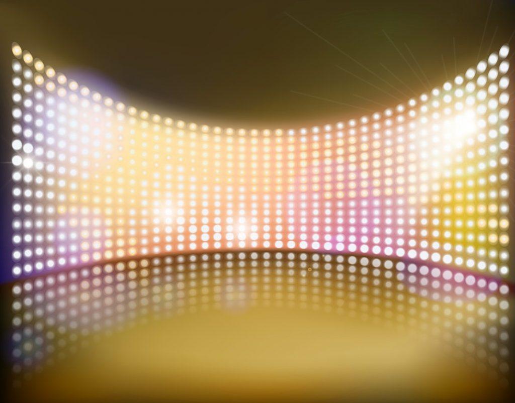 Spannende Bühnenbeleuchtung mit LED-Einbaustrahlern oder einfachen LED-Strahlern. (#2)