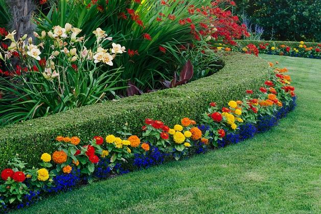 Exakt, gepflegt, wer gern in seinem Garten arbeitet, für den wäre diese Gartengestaltung das Richtige