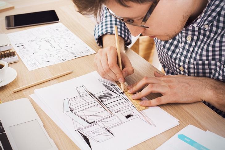 Bei dieser Art von Architekturdastellungen ist Genauigkeit das Wichtigste