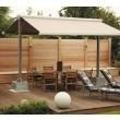 Sonnenschutz Holzwand und Markise. Wieder eine Möglichkeit als Sicht und Sonnenschutz