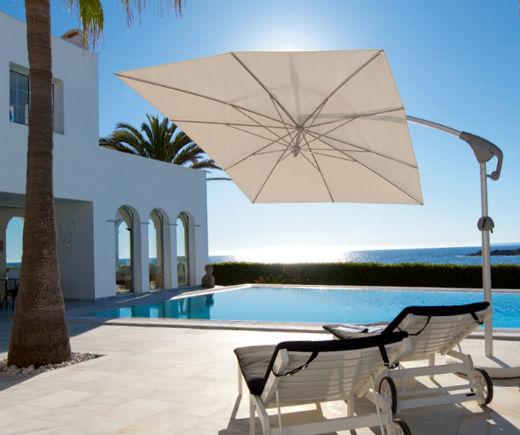 Sonnenschutz Sonnenschirme: Wer keine Befesitgung an seinem Haus haben möchte, für den ist ein toller Sonnenschirm die optimale Lösung