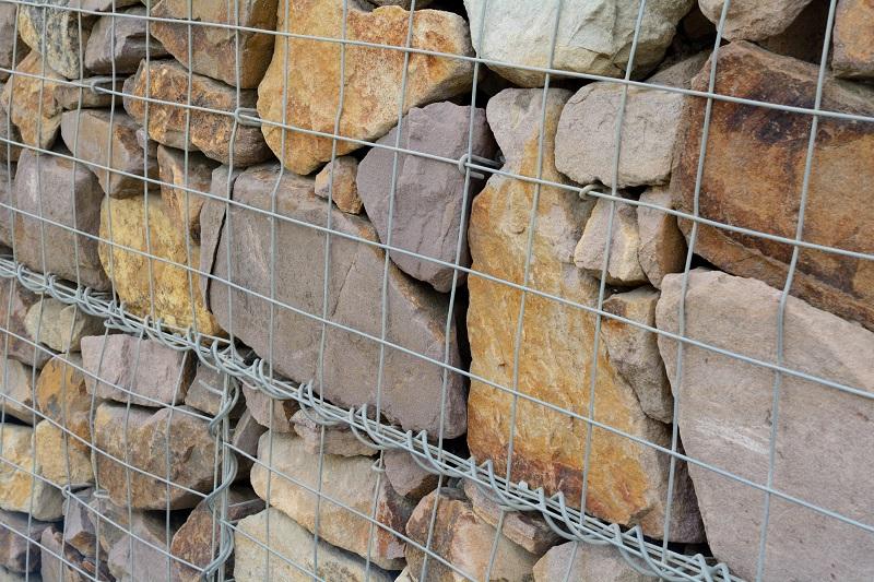 Gabione mit Füllung aus Natursteinen (#02)