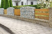 Kreative Gartengestaltung mit Gabionen: Zaun mit Gabionen
