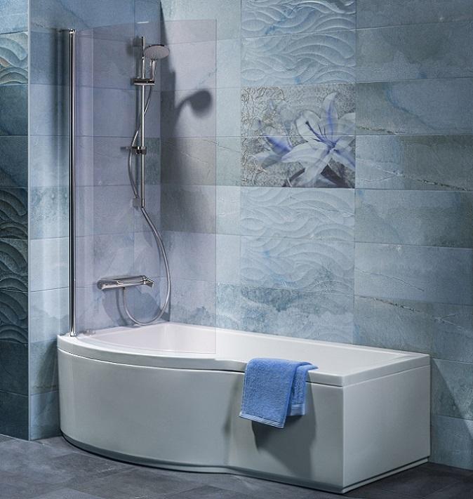 Wieder einmal zeigt sich, dass auch mit wenig Platz ein wunderschönes Badezimmer entstehen kann. Reicht der Raum für eine separate Dusche mit Badewanne nicht aus, wird die Dusche eben in die Wanne integriert. (#08)