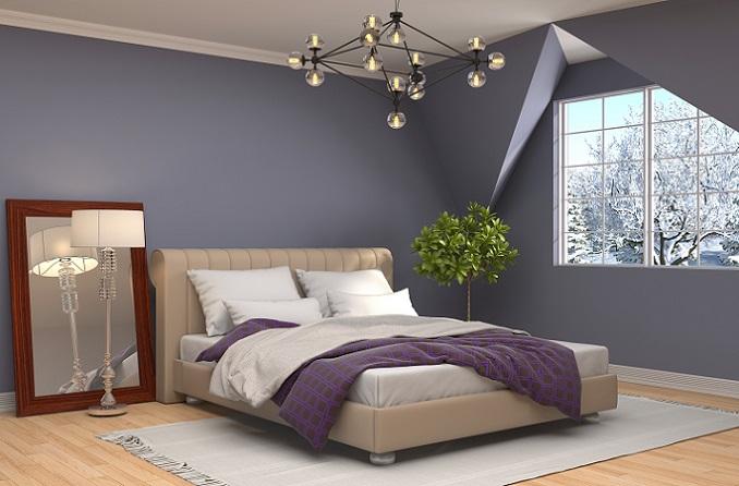 Egal um welchen Raum es sich handelt. Zu Beginn der Raumgestaltung sollte man sich auf ein Farbschema festlegen, welches sich durch die Raumgestaltung zieht. Gerade im Schlafzimmer gilt es, eine bunte Farbmischung eher zu vermeiden, da dies aufgeregt wirkt. (#01)