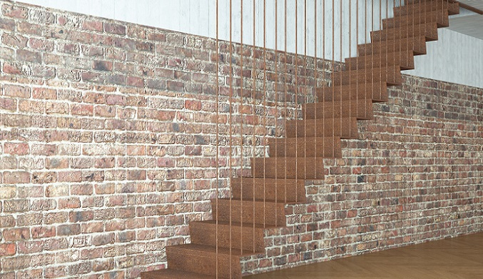Eine weitere Möglichkeit, einen Treppenaufgang im Flurbereich richtig zur Geltung zu bringen, ist eine filigrane Treppeneinfassung. (#06)