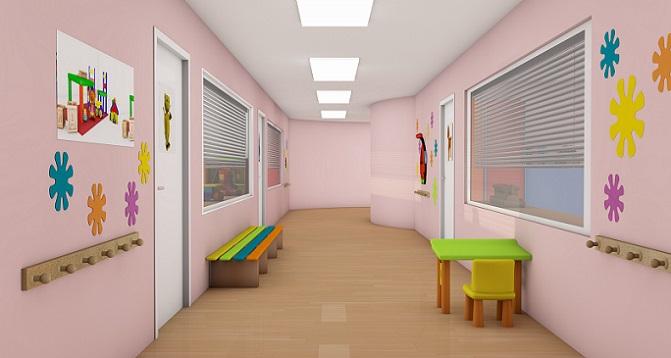 Auf dem Weg zum Kinderzimmer darf der Flurbereich gerne bunt und lustig gestaltet sein. Die Basis hierzu ist ein freundlicher Farbton, der sich optimal mit weiterer Dekoration kombinieren lässt. (#07)