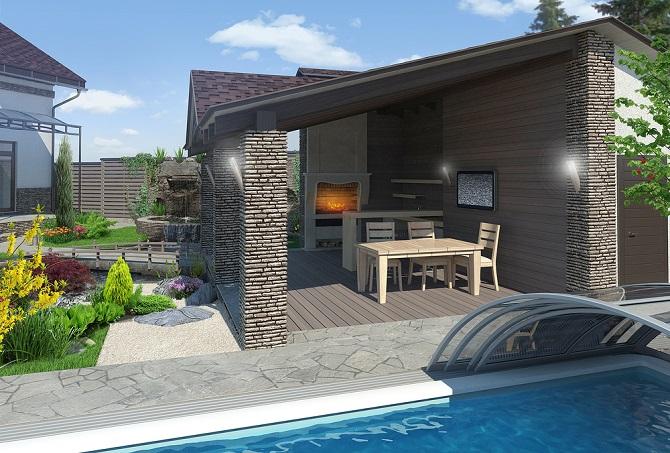 Eine gemauerte Sichtschutzwand, ein Sichtschutzzaun aus Holz oder eine Pergola hingegen schafft einen dauerhaften Sichtschutz für die Terrasse. (#02)