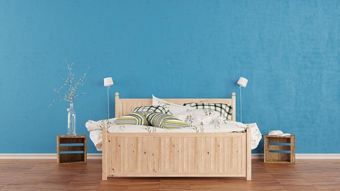 Nicht nur Möbel kann man als Eyecatcher verwenden, auch Farben setzten hervorragend Statements. Zu knallige Farben sind in einem Raum wie dem Schlafzimmer, der eigentlich für Ruhe und Entspannung sorge soll, keine gute Idee. (#08)