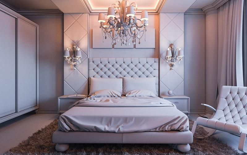 Vor allem Motive mit Blumen und ähnlichen Mustern schaffen eine ruhige und besonnene Schlafzimmeratmosphäre. (#03)