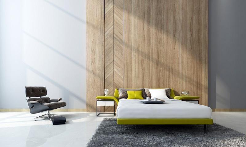 Wer sich in einem urigen Schlafzimmer wohlfühlen möchte, kann sich auch gut eine Wandverkleidung aus altem Holz selber bauen. Vor allem hinter dem Bett kann das wirklich ein absoluter Hingucker sein. (#07)