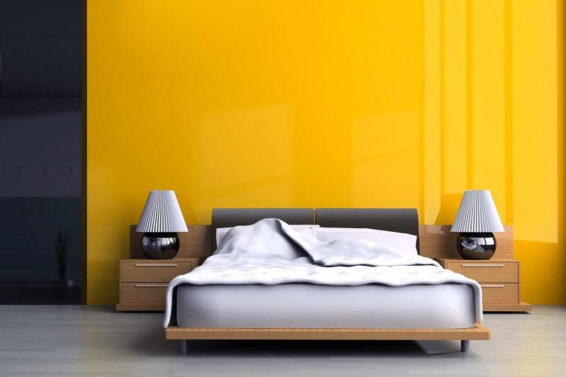 Ein weiterer Hingucker bei der Wandgestaltung im Schlafzimmer sind Tapeten. Das muss nicht die biederne weiße Raufasertapete sein. (#02)