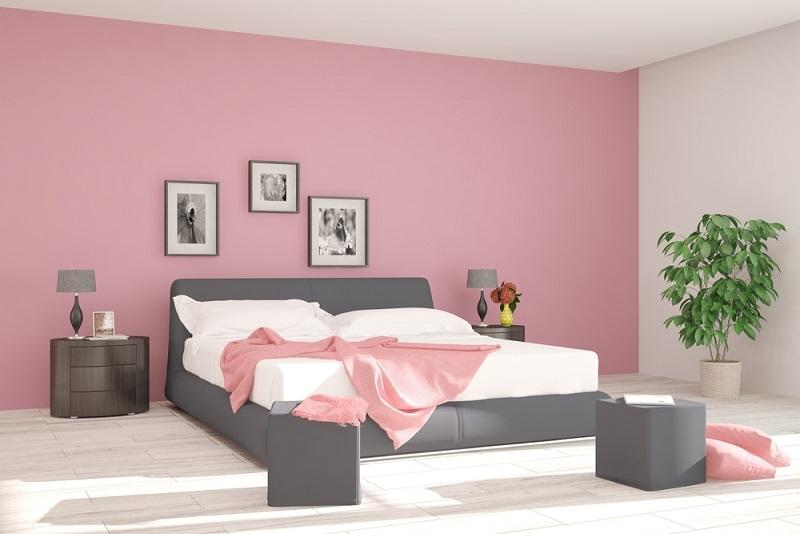 Vielmehr empfehlen sich im Schlafzimmer gedeckte Farben wie Creme- oder Pastelltöne. Auch ein hellgrauer Anstrich kann sich gut machen und harmoniert vor allem – wie auch die Pastelltöne – mit hellen Möbeln. (#01)