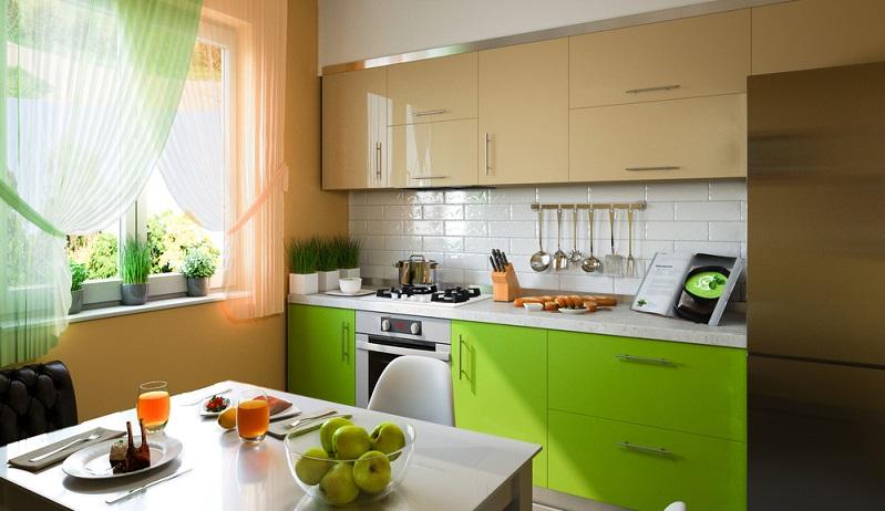 In kleinen Küchen ergonomisch zu planen reduziert den Raum, den Nutzer in der Küche zum Agieren benötigen. (#04)