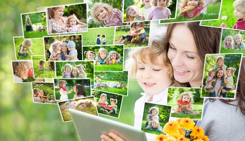 Fröhliche Fotos von der Einschulung oder von einer Familienfeier machen Kindern viel Freude. Wichtig sind aber auch die Farben, die hier etwas kräftiger sein dürfen. (#04)