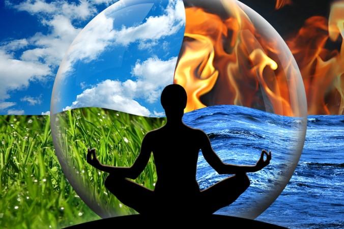 Die 5 Elemente des Feng Shui: Luft, Feuer, Erde, Wasser, Metall. (#3)