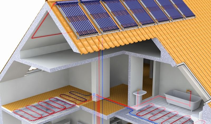Dadurch, dass die gesamte Fläche beheizt wird, ist eine geringere Temperatur ausreichend, um einen Raum angenehm zu temperieren. (#01)