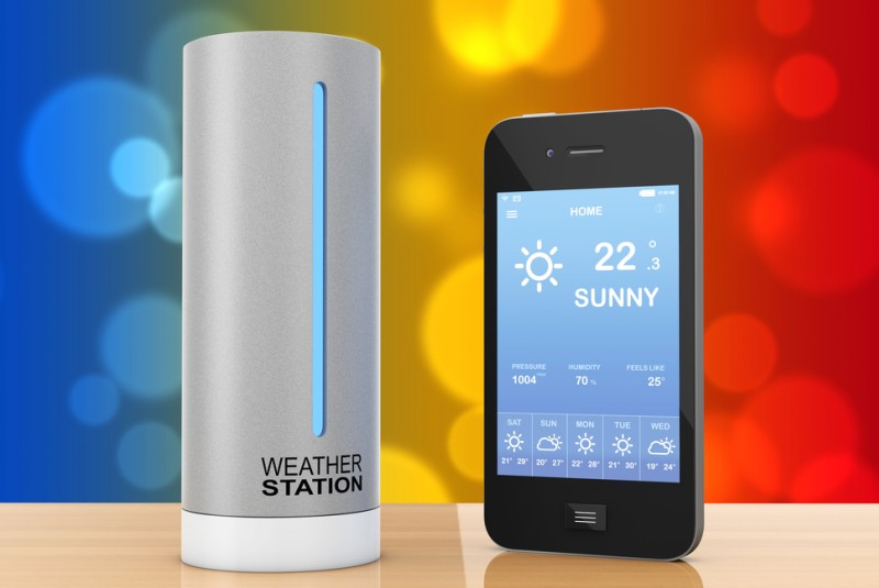Mit der richtigen Wetterstation und mit den richtigen Einstellungen im Smart Home können Sie individuell auf das Wetter reagieren. Die Sonne kommt raus und Sie wollen kühle Räume nach Feierabend? Dann nichts wie runter mit den Rolläden - und ganz einfach per Handy von Unterwegs. (#4)