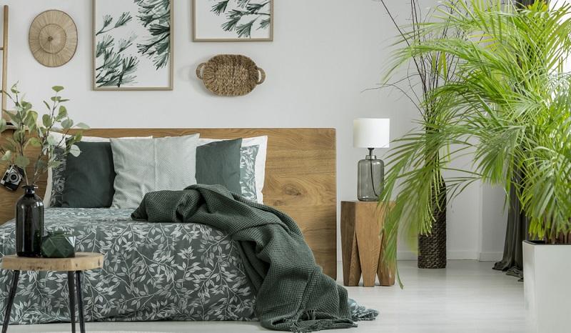 Ganz interessant dürfte der tropische Stil sein, der in 2018 Einzug in die Schlafzimmer halten wird. (#05)