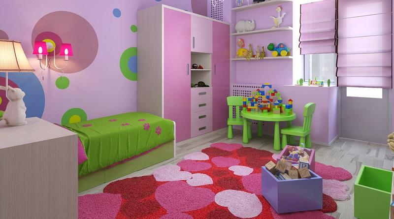 Das Kinderzimmer kann in allen Farben gestrichen werden, die hell, fröhlich und leuchtend sind. (#02)
