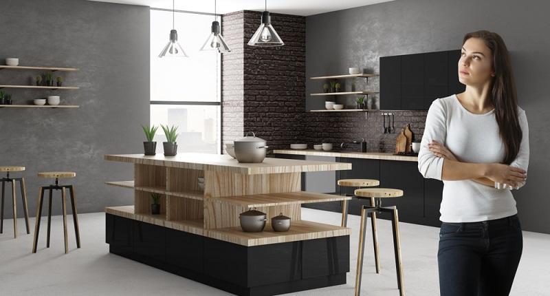 Einbauküchen verfügen in aller Regel über einen Sockel. Dabei handelt es sich um eine kleine Blende direkt über dem Boden. Dahinter besteht jedoch ein Freiraum, der nicht genutzt werden kann. (#07)