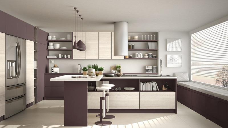 Einbauküchen in L- oder in U-Form verfügen über Ecken. (#05)