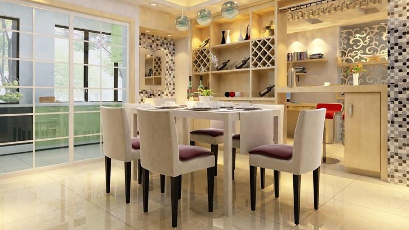 Manche werden sich nun fragen, welche Möbel denn noch im Esszimmer stehen sollten: Tisch und Stühle in angemessener Zahl reichen doch! Je nach Größe des Raums und vorhandenem Platzangebot sind aber ein Sideboard sowie eine Vitrine sinnvoll.