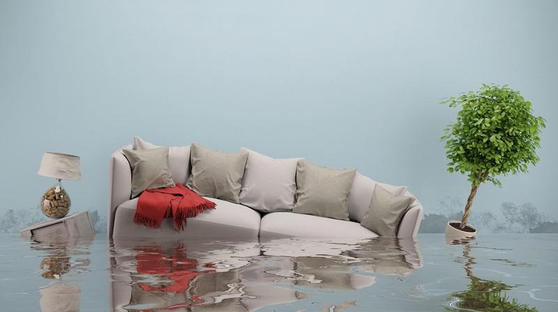 Häufige Ursache für feuchte Wände ist ein Wasserschaden in der Wohnung. (#1)