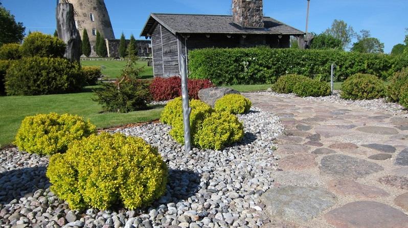 Wenn Sie einen Steingarten anlegen, ist es ideal, wenn dieser eine Hanglage hat. (#01)