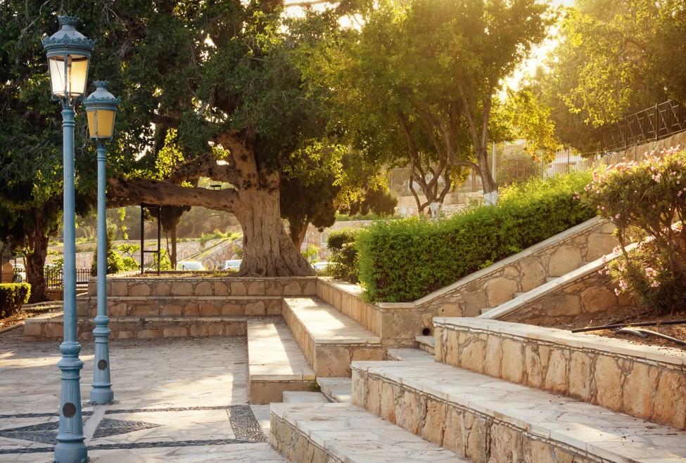 Wenn Sie Ihren Vorgarten im mediterranen Stil gestalten, kann oftmals ein sehr großzügiger Eindruck erzielt werden, wie auf diesem Bild. Tatsächlich ist der abgebildete Vorgarten eher schmal, doch gibt ihm die gerade hindurchführende Treppe einen weitläufigen Charakter. (#3)