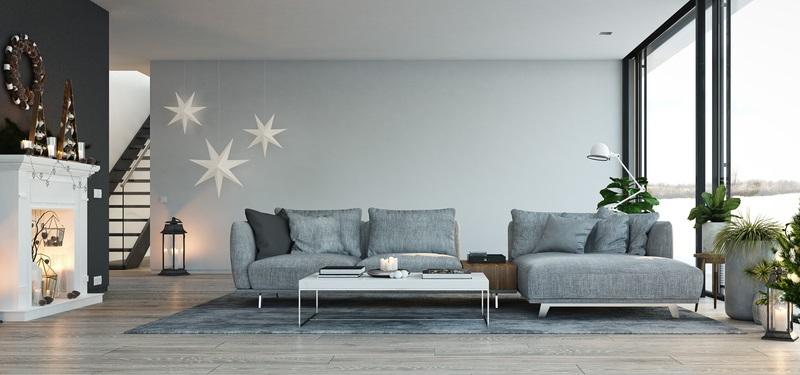 Zum Winter dekorieren sie um, zu Weihnachten wird alles in ein sanftes Licht getaucht.