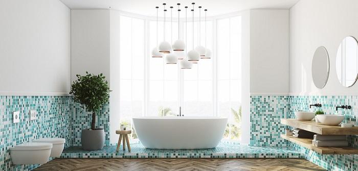 Badezimmergestaltung: 10 Ideen mit und ohne Fliesen