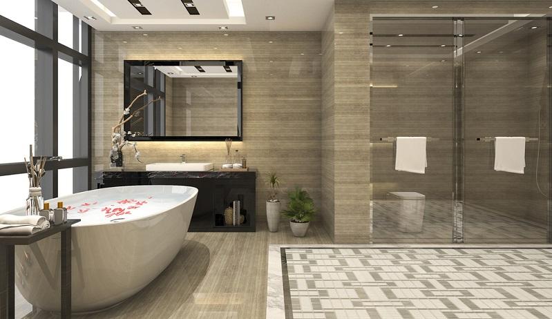 Welche Möglichkeiten hat man, Gästebad, Farbgestaltung und Badeinrichtung individuell anzupassen und dennoch funktional und pflegeleicht zu halten?