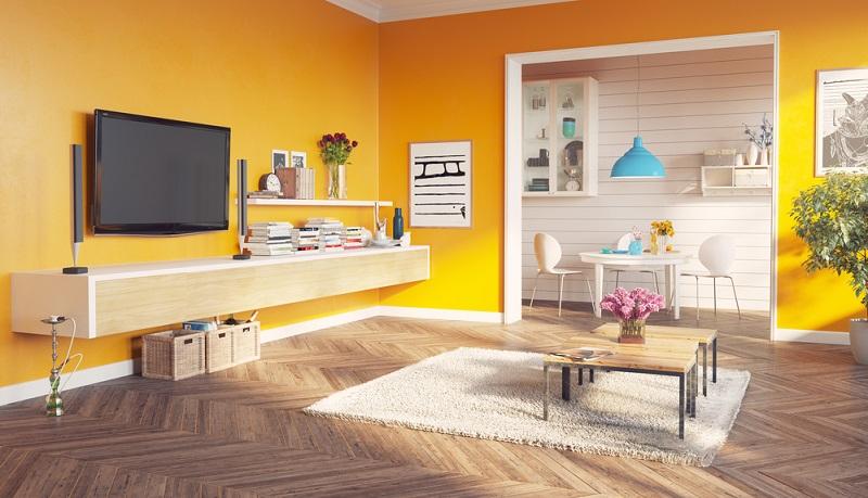 Gelb ist eine sonnige Farbe, die jeden Raum strahlen lässt.