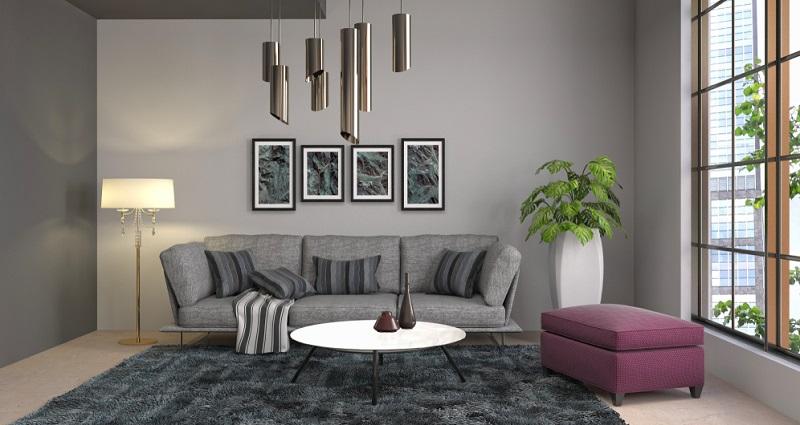 Grau gilt ebenfalls als neutrale Farbe, ist aber wunderbar wandlungsfähig. Diese Farbe passt sich anderen Farben an und kann vom kühlen Industrial Chic bis zum Landhausstil alle Stilrichtungen bedienen.