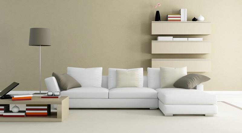 Weiß und Beige sind neutrale Farben und eignen sich wunderbar zum Streichen der Wände.