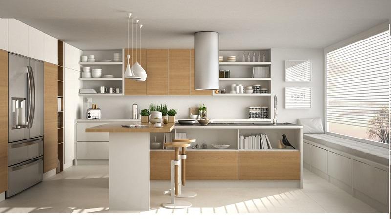 Besonderes Augenmerk sollte auf die Materialwahl gelegt werden, denn sie ist neben der Beleuchtung und der Einbeziehung moderner Technik der vermutlich wichtigste Punkt bei den aktuellen Küchentrends.