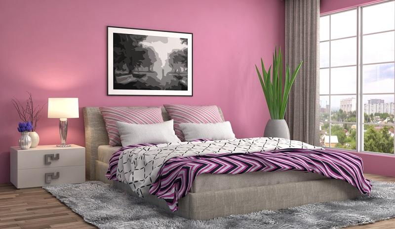 Wer nach einer eher weniger häufigen Farbkombination sucht, bleibt vielleicht bei Grau und Rosa als Wandfarbe hängen. Diese Kombination wirkt zurückhaltend und dennoch effektvoll, zumal Grau eher kühl und sachlich ist, Rosa hingegen romantisch und warm.