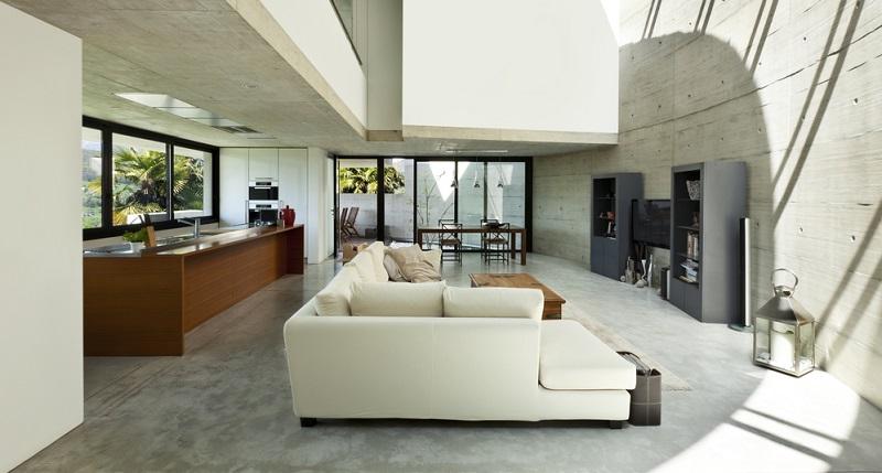 Alles in allem kann ein Betonhaus ein Traumhaus sein, allerdings sollten die Hausbesitzer auf den Industrial Style oder auf den Bauhausstil stehen.